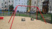 Huśtawka łańcuchowa podwójna metalowa na plac zabaw
