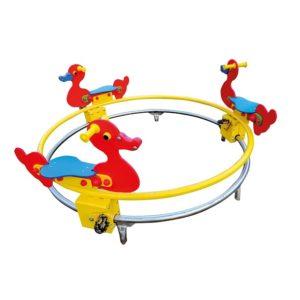 Karuzela szynowa kaczki na plac zabaw