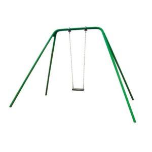 Huśtawka łańcuchowa pojedyncza metalowa na plac zabaw
