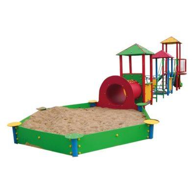Zestaw wieżowy z piaskownicą na plac zabaw