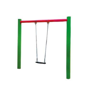 huśtawka łańcuchowa metalowa pojedyncza na plac zabaw