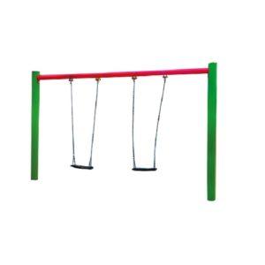 huśtawka łańcuchowa metalowa podwójna na plac zabaw
