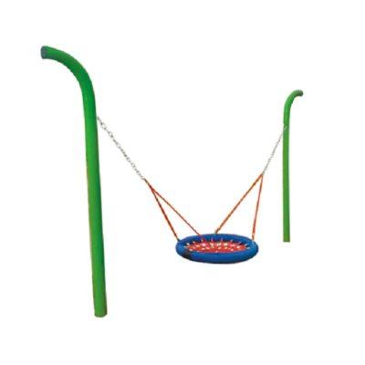 huśtawka łańcuchowa metalowa bocianie gniazdo na plac zabaw
