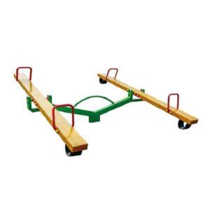 Huśtawka wagowa / ważka podwójna drewniana na plac zabaw