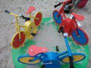 Karuzela kolarz na plac zabaw
