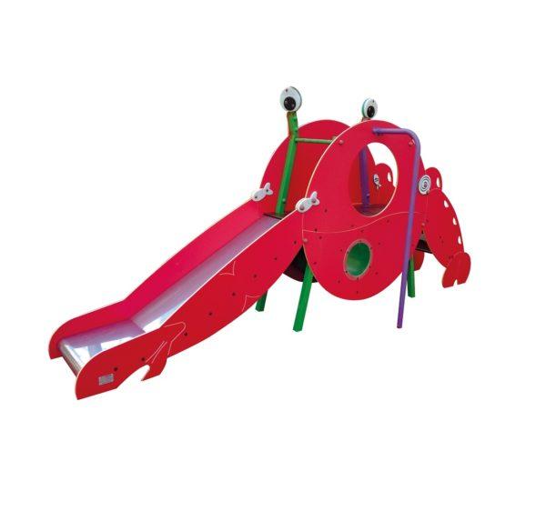 krab zjeżdżalnia na plac zabaw
