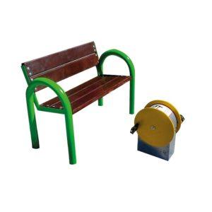 zestaw integracyjny - ławka z rowerkiem fitness / siłownia na zewnątrz