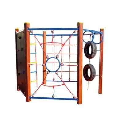 Zestaw sprawnościowy drewniany na plac zabaw
