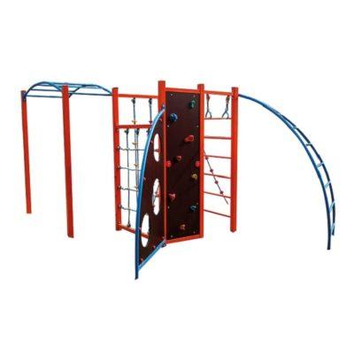 Zestaw sprawnościowy metalowy na plac zabaw