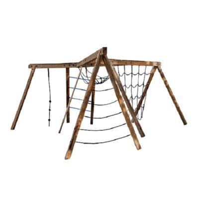 Zestaw sprawnościowy małpi gaj drewniany na plac zabaw