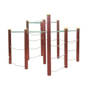 Zestaw sprawnościowy labirynt drewniany na plac zabaw