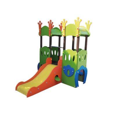 Zestaw wieżowy ze zjeżdżalnią dla małych dzieci na plac zabaw