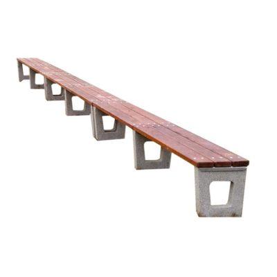Ławka betonowa bez oparcia modułowa