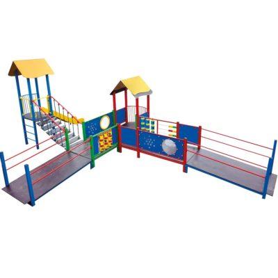 Zestaw wieżowy zabawowy integracyjny na plac zabaw