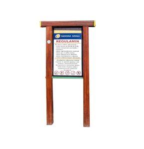Regulamin na plac zabaw drewniany