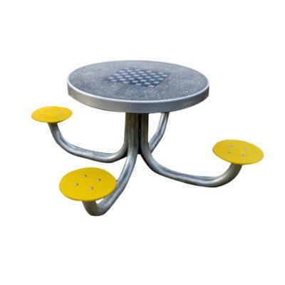 Stolik betonowy okrągł ydo gry w szachy/chińczyka/karty na plac zabaw