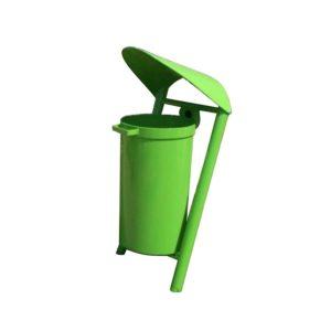 Kosz na śmieci z daszkiem