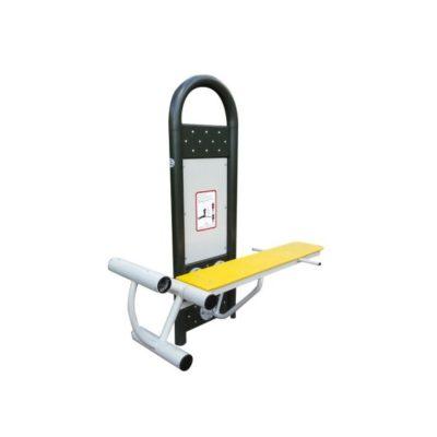 lawka z ćwiczeniem nog i bioder - urządzenia fitness siłownia na zewnątrz