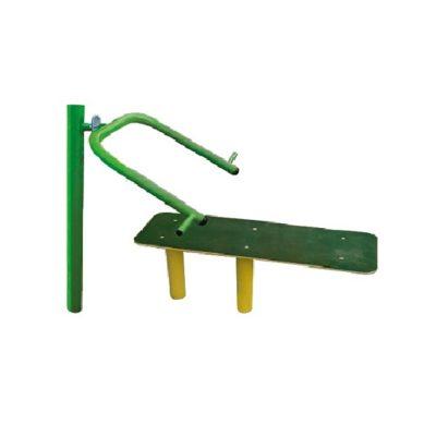 sztanga w leżeniu/ławka twister - urządzenia fitness siłownia na zewnątrz