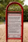 Regulamin na wybieg dla psów (psi park) metalowy