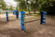 Drążek duży do przeskoków dla psów na psi wybieg, psi park (Szarik)