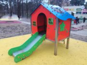 Domek dla dzieci na plac zabaw i ogrodu
