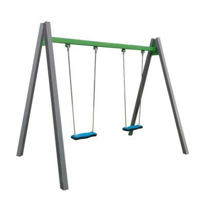Huśtawka łańcuchowa podwójna metalowa