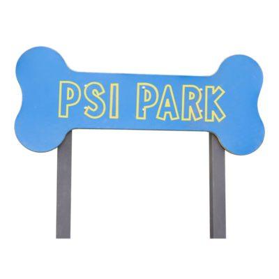 Szyld na wybieg dla psów, psi park